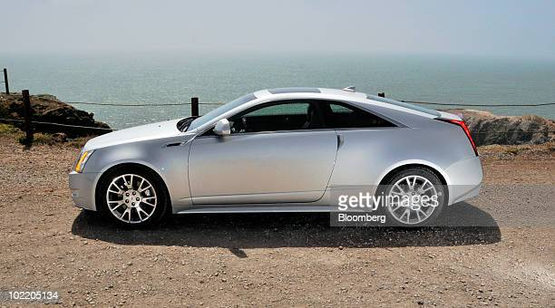 General Motors Co's 2011 Cadillac CTS Coupe is displayed for a photo in the Marin Headlands in Sausalito California US on Monday June 14 2010 GM is...