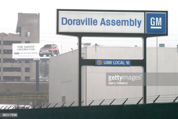 General Motors Doraville Assembly Plant signage is shown November 21 2005 in Doraville Georgia The plant is one of nine manufacturing plants in North...