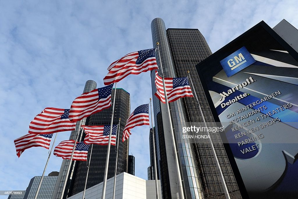 General Motors headquarters in the Renaissance Center are seen on ...