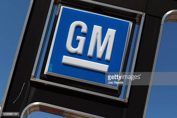 General Motors sign is seen on the Kendall ChevroletDadeland dealership lot on August 12 2010 in Miami Florida General Motors announced it posted...