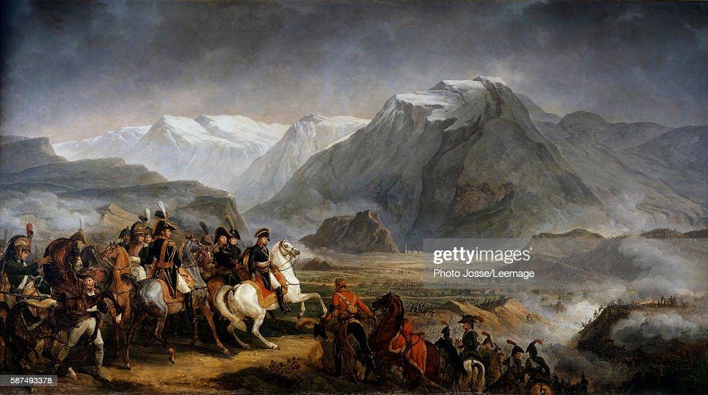 General Napoleon Bonaparte during the Battle of Rivoli Painting by Antoine Charles Horace Vernet 19th century Castle of Grosbois Boissy Saint Leger...