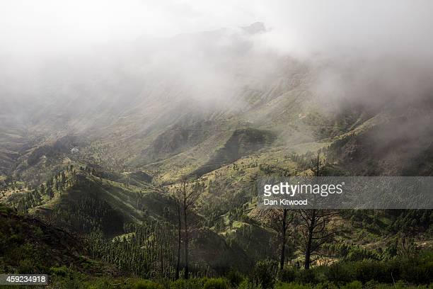A general of a valley on November 13 2014 in La Gomera Canary Island Spain