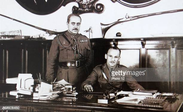 General of the Army Manuel Goded Llopis seated at a desk Goded was a Spanish Army general who was one of the key figures in the July 1936 revolt...