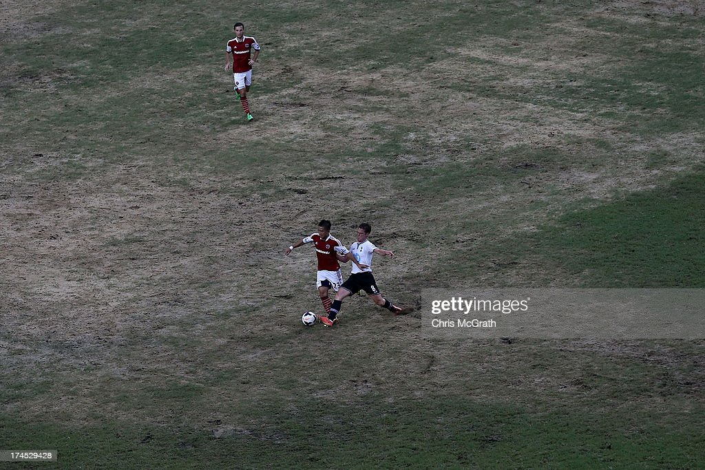 A general of the pitch during the Third Place Play-Off match between Tottenham and South China at Hong Kong Stadium on July 27, 2013 in So Kon Po, Hong Kong.