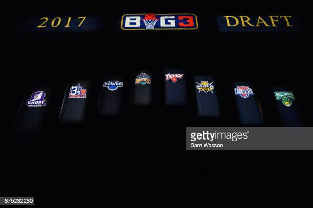 A general of the stage for the 2017 BIG3 basketball league draft at Planet Hollywood Resort Casino on April 30 2017 in Las Vegas Nevada