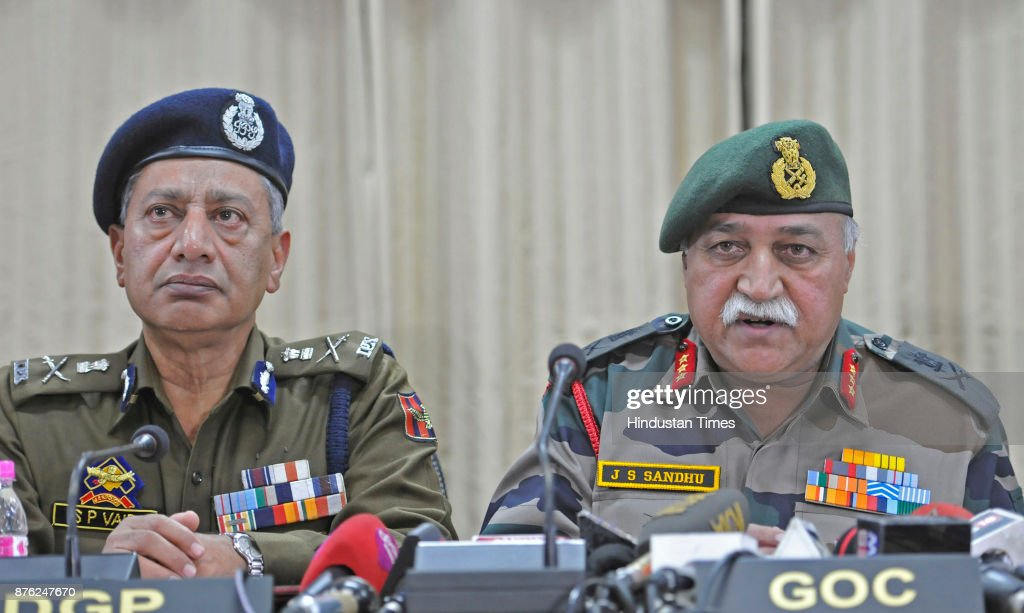Joint Press Conference Of General Officer Commanding  Of 15 Corps Lt Gen J S Sandhu