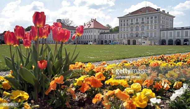 General outside view of late baroque Nymphenburg Castle seen on May 5 2008 in Munich Germany The Nymphenburg Castle was the former summer residence...