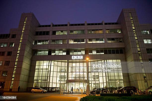 A general outside view of the BBC's White City building on March 22 2013 in London England The BBC will today make its last live broadcast from the...