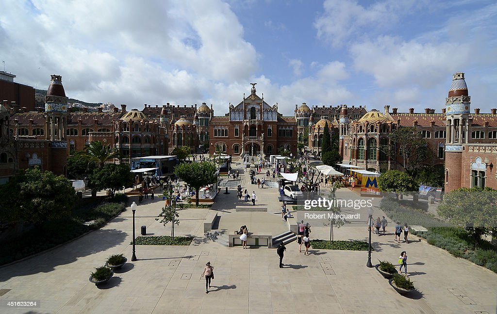 A general outside view of the Hospital de Sant Pau site of the 080 Barcelona Fashion Spring-Summer 2015's venue on July 2, 2014 in Barcelona, Spain.
