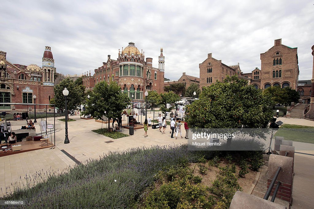 A general outside view of the Hospital de Sant Pau site of the 080 Barcelona Fashion Spring-Summer 2015's venue on July 3, 2014 in Barcelona, Spain.
