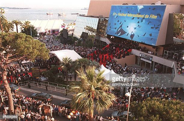 General outside view of the Palais des festivals 13 May on the opening night of the 51st Cannes film festival The French festival opens today with...