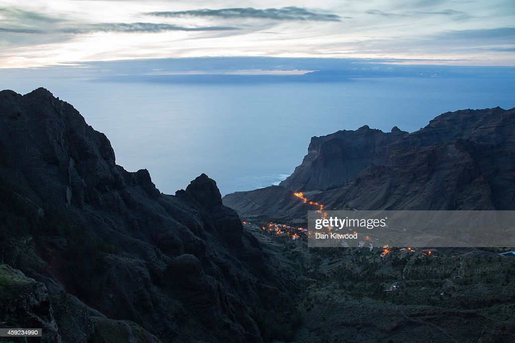 A general over Tagaluche in Valle Gran Rey on November 12 2014 in La Gomera Canary Island Spain