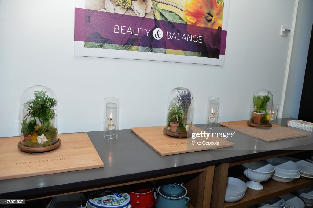 General overall atmosphere of Real Simple's Botanical Beauty cocktail party at Andaz 5th Avenue on March 15, 2014 in New York City.