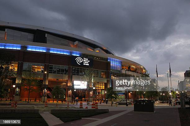 A general overall exterior view of the game between the Charlotte Bobcats against the New York Knicks at the Time Warner Cable Arena on April 15 2013...