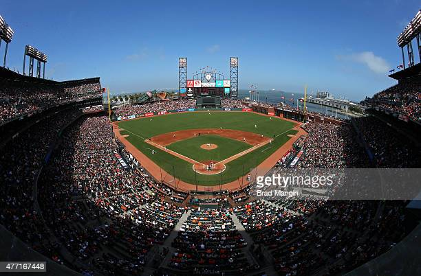 General overall interior scenic view during the game between the Arizona Diamondbacks and San Francisco Giants at ATT Park on Saturday June 13 2015...