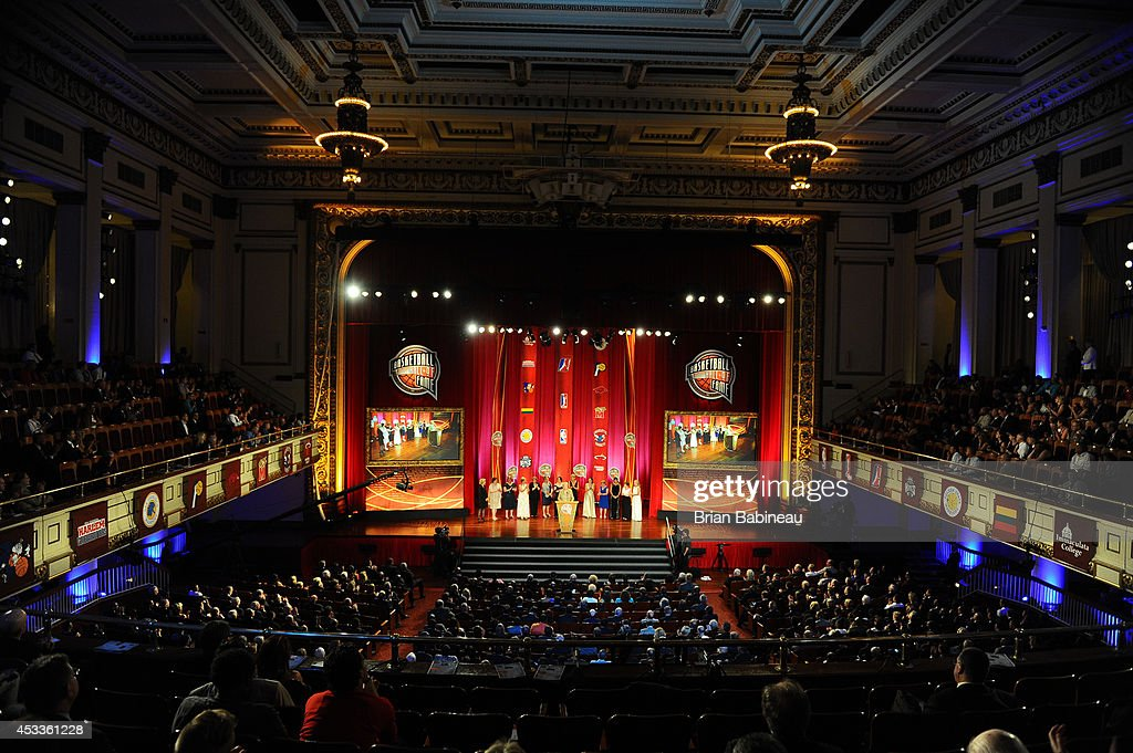 A general overall view during the 2014 Basketball Hall of Fame Enshrinement Ceremony on August 8 2014 at the Mass Mutual Center in Springfield...