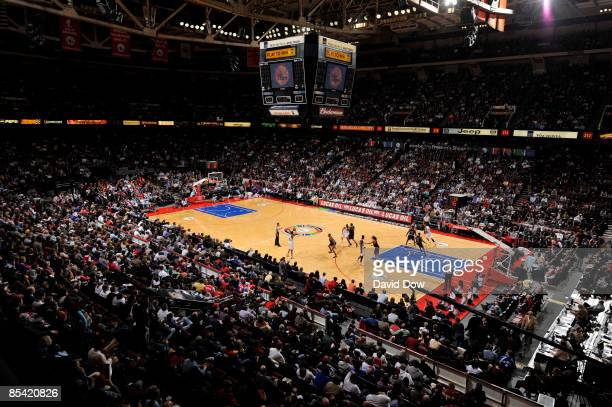 A general overall view of the arena of the Philadelphia 76ers against the Chicago Bulls on March 13 2009 at the Wachovia Spectrum in Philadelphia...