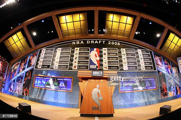 A general overall view of the draft stage during the 2008 NBA Draft on June 26 2008 at the WaMu Theatre at Madison Square Garden in New York City...
