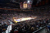 A general overall view of the game between the Charlotte Bobcats and the Los Angeles Lakers at STAPLES Center on January 31 2014 in Los Angeles...