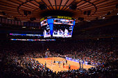 A general overall view of the USA Basketball Men's National Team against the Puerto Rico National Team on August 22 2014 at Madison Square Garden in...