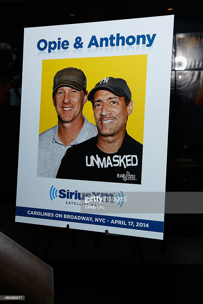 General overview at the SiriusXM's O&A20: Unmasked With Opie & Anthony Special Celebrates 20 Years Of Opie & Anthony at Carolines On Broadway on April 17, 2014 in New York City.