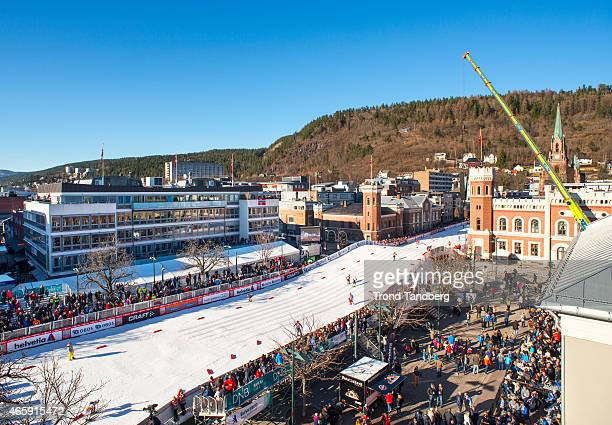General overview Bragernes Torg World Cup track at the FIS Cross Country World Cup Ladies 13 km Sprint Classic at March 11 2015 in Drammen Norway...