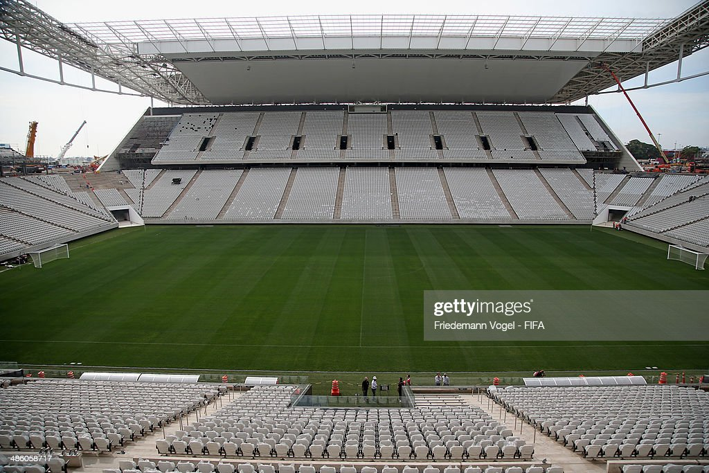 A general overview during the 2014 FIFA World Cup Host City Tour at Arena Sao Paulo on April 22, 2014 in Sao Paulo, Brazil.
