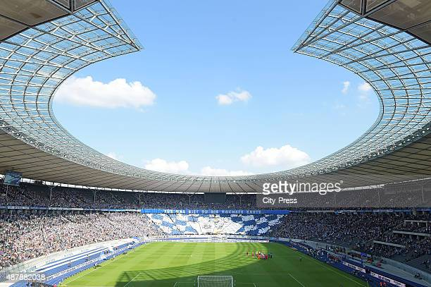 A general overview during the Bundesliga match between Hertha BSC and VFB Stuttgart on September 12 2015 in Berlin Germany