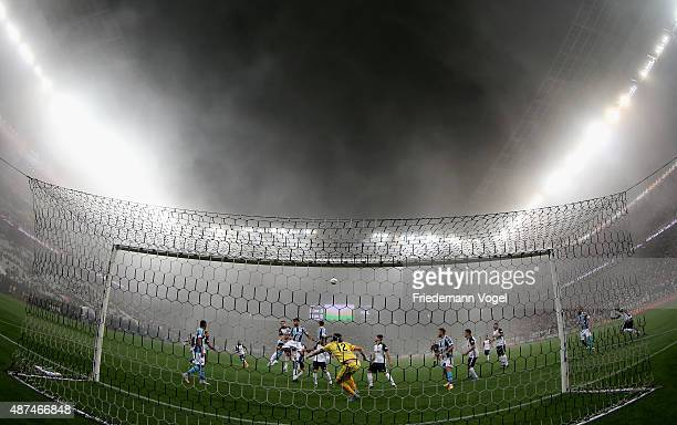 A general overview during the match between Corinthians and Gremio for the Brazilian Series A 2015 at Arena Corinthians on September 9 2015 in Sao...