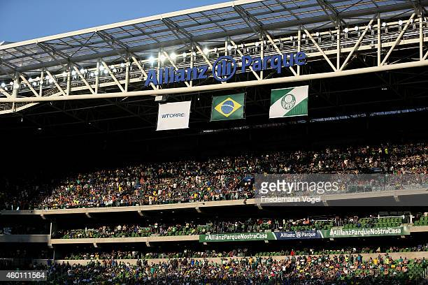 A general overview during the match between Palmeiras and Atletico PR for the Brazilian Series A 2014 at Allianz Parque on December 7 2014 in Sao...