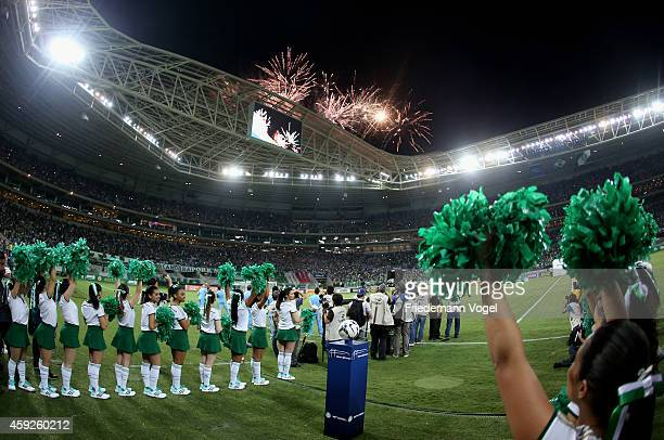 A general overview during the match between Palmeiras and Sport Recife for the Brazilian Series A 2014 at Allianz Parque on November 19 2014 in Sao...