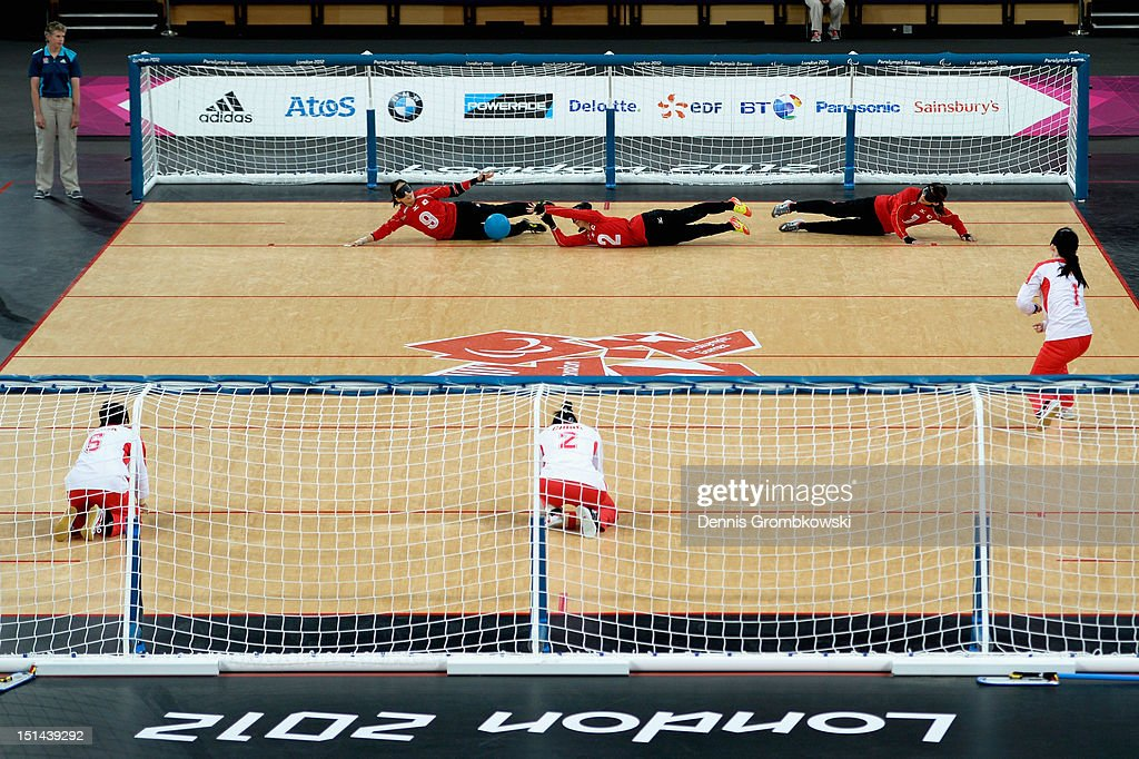 A general overview is pictured during the Women's Team Goalball Gold Medal match between China and Japan on day 9 of the London 2012 Paralympic Games at The Copper Box on September 7, 2012 in London, England.
