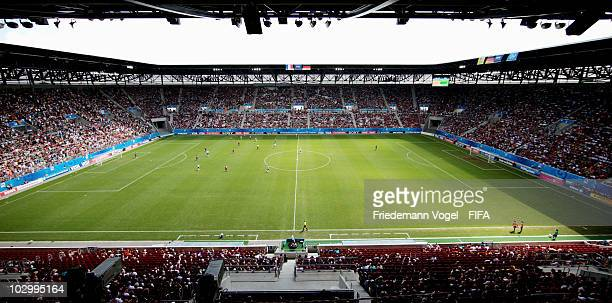 A general overview is taken during the FIFA U20 Women's World Cup Group A match between France and Germany at the FIFA U20 Women's World Cup stadium...