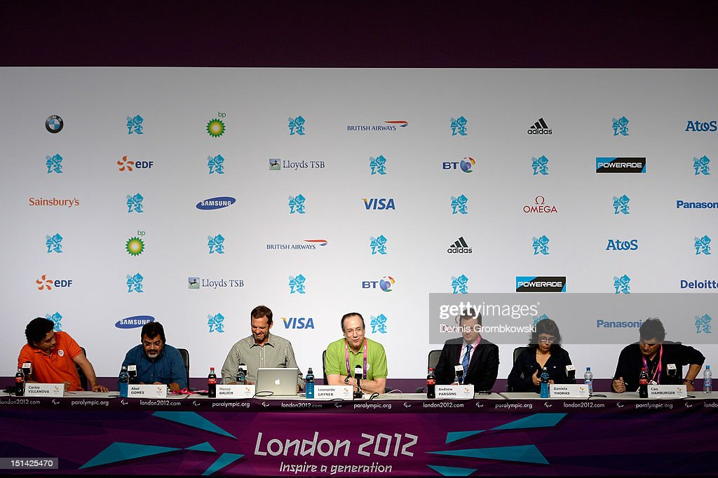 A general overview of a press conference due to Rio 2016 Paralympic Games and Flag Handover is pictured on day 9 of the London 2012 Paralympic Games at on September 7, 2012 in London, England.