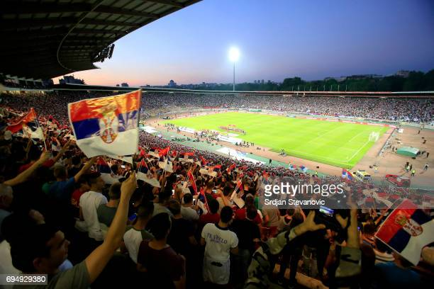 General overview of stadium Rajko Mitic prior the FIFA 2018 World Cup Qualifier between Serbia and Wales at stadium Rajko Mitic on June 11 2017 in...