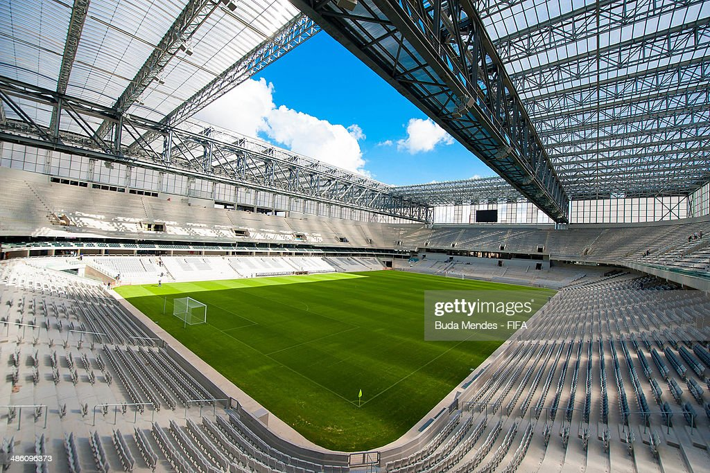 A general overview of the Arena da Baixada during the 2014 FIFA World Cup Host City Tour on April 22, 2014 in Curitiba, Brazil