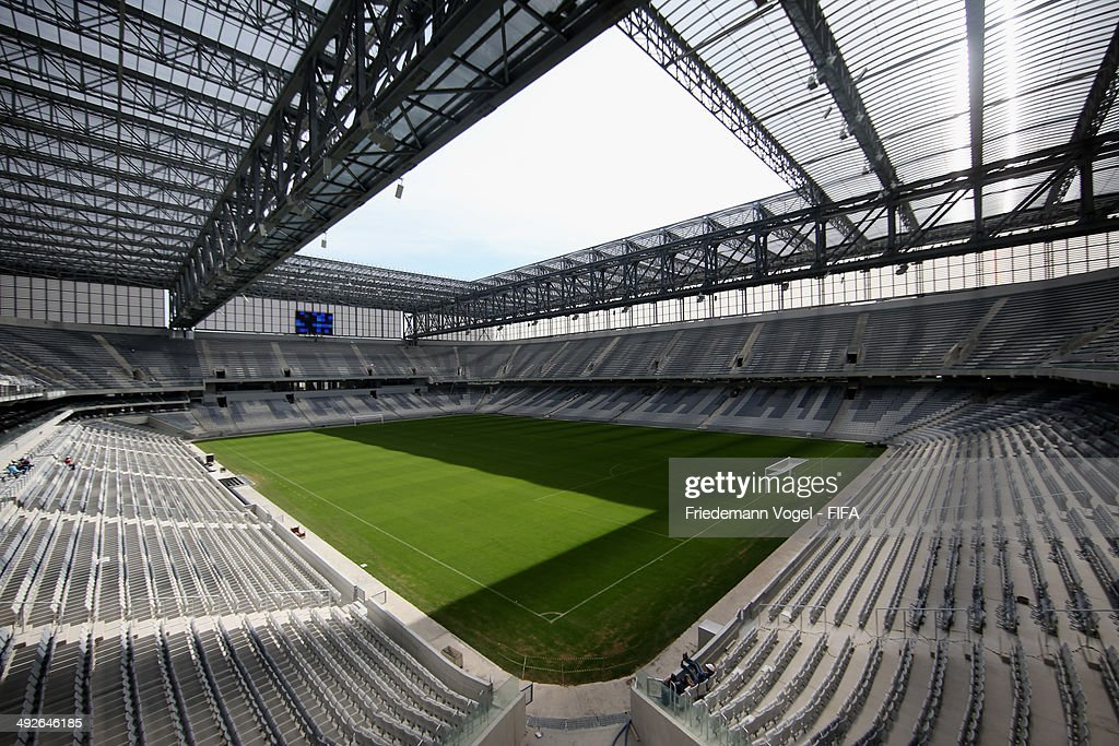 A general overview of the Arena da Baixada during the 2014 FIFA World Cup Host City Tour on May 21, 2014 in Curitiba, Brazil.