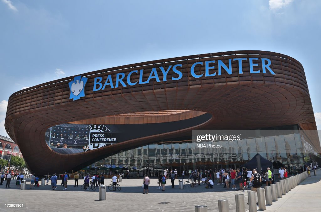 General overview of the arena during a press conference at the Barclays Center on July 18, 2013 in the Brooklyn borough of New York City.