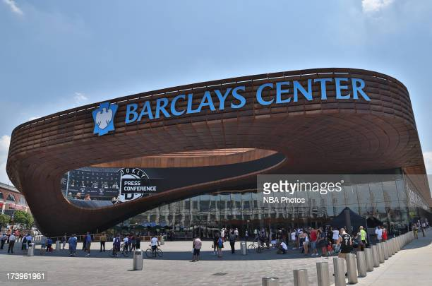 General overview of the arena during a press conference at the Barclays Center on July 18 2013 in the Brooklyn borough of New York City NOTE TO USER...