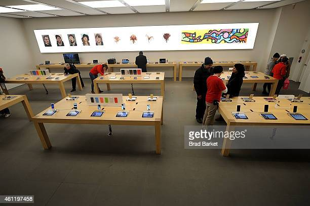 A general overview of the at Apple Store Soho on January 8 2015 in New York City