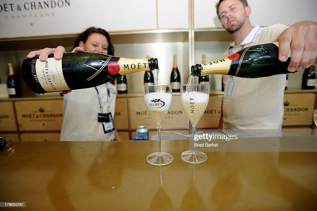 A general overview of the Moet & Chandon Suite at USTA Billie Jean King National Tennis Center on August 26, 2013 in New York City.