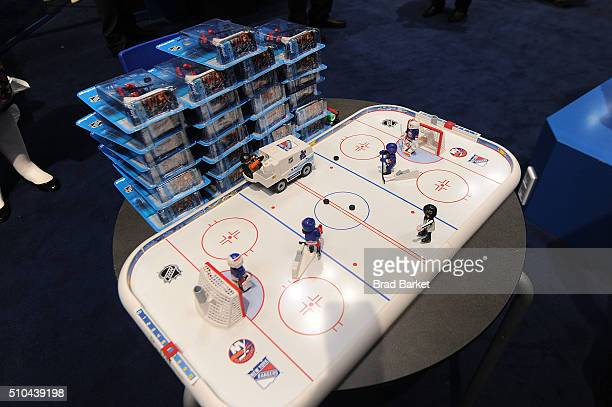 A general overview of the New York Rangers Forward Rick Nash Attends PLAYMOBIL Booth At NY Toy Fair on February 15 2016 in New York City