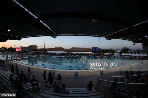 A general overview of the Skyline Aquatic Center before the start of the finals on day three of the Arena Pro Swim Series Mesa on April 15 2017 in...