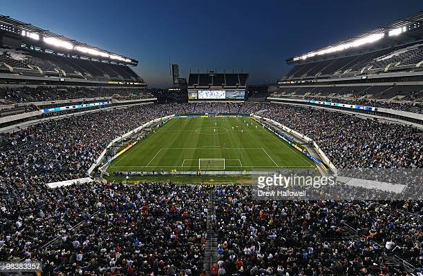 A general overview of the stadium during the game between DC United and the Philadelphia Union on April 10 2010 at Lincoln Financial Field in...