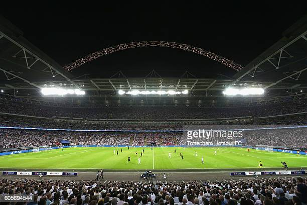 A general overview of Wembley during the UEFA Champions League match between Tottenham Hotspur FC and AS Monaco FC at Wembley Stadium on September 14...