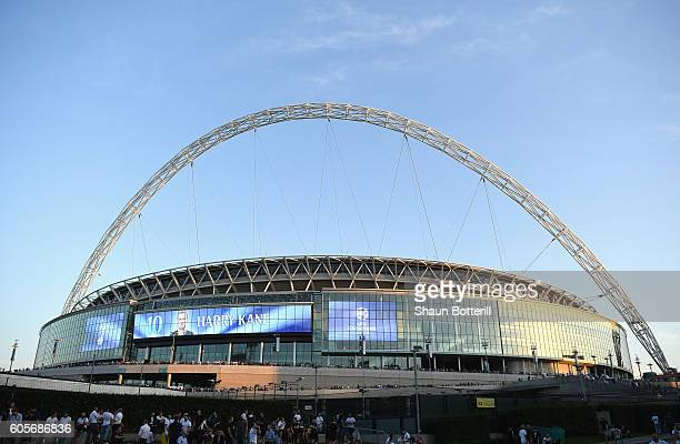 A general overview of Wembley prior to the UEFA Champions League match between Tottenham Hotspur FC and AS Monaco FC at Wembley Stadium on September...