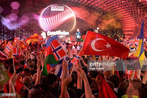 A general overview taken during the final of the Eurovision Song Contest 2015 on May 23 2015 in Vienna Austria The final of the Eurovision Song...
