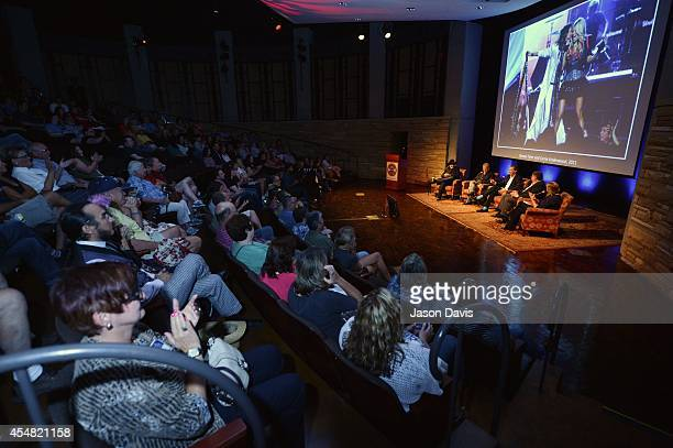 General Panel and crowd view during the Fifty Years Of The ACM Awards Panel Discussion at Country Music Hall of Fame and Museum on September 6 2014...