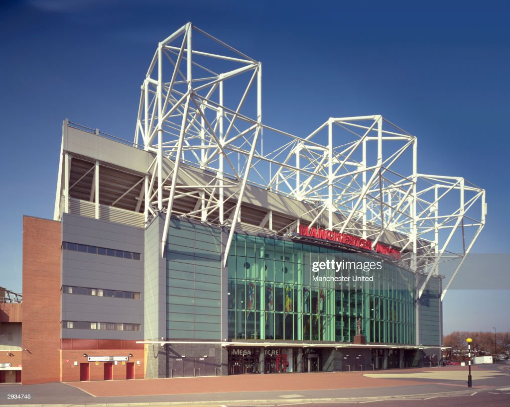 A general panoramic view of the exterior of the East Stand at the Old Trafford Stadium home to Manchester United on November 25 2003 in Manchester...