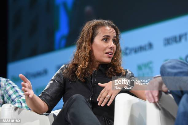 General Partner at Canaan Partners Maha Ibrahim speaks onstage during TechCrunch Disrupt NY 2017 at Pier 36 on May 15 2017 in New York City